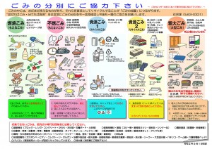 ゴミ分別表ダウンロード(pdf)